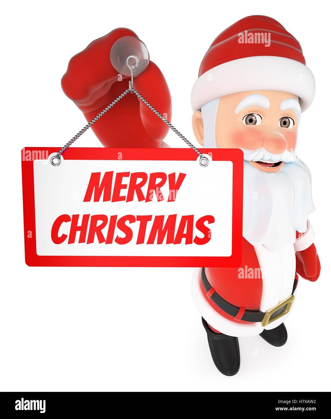 Buon Natale Freestyle Download.3d Natale Persone Illustrazione Santa Claus Appeso Un