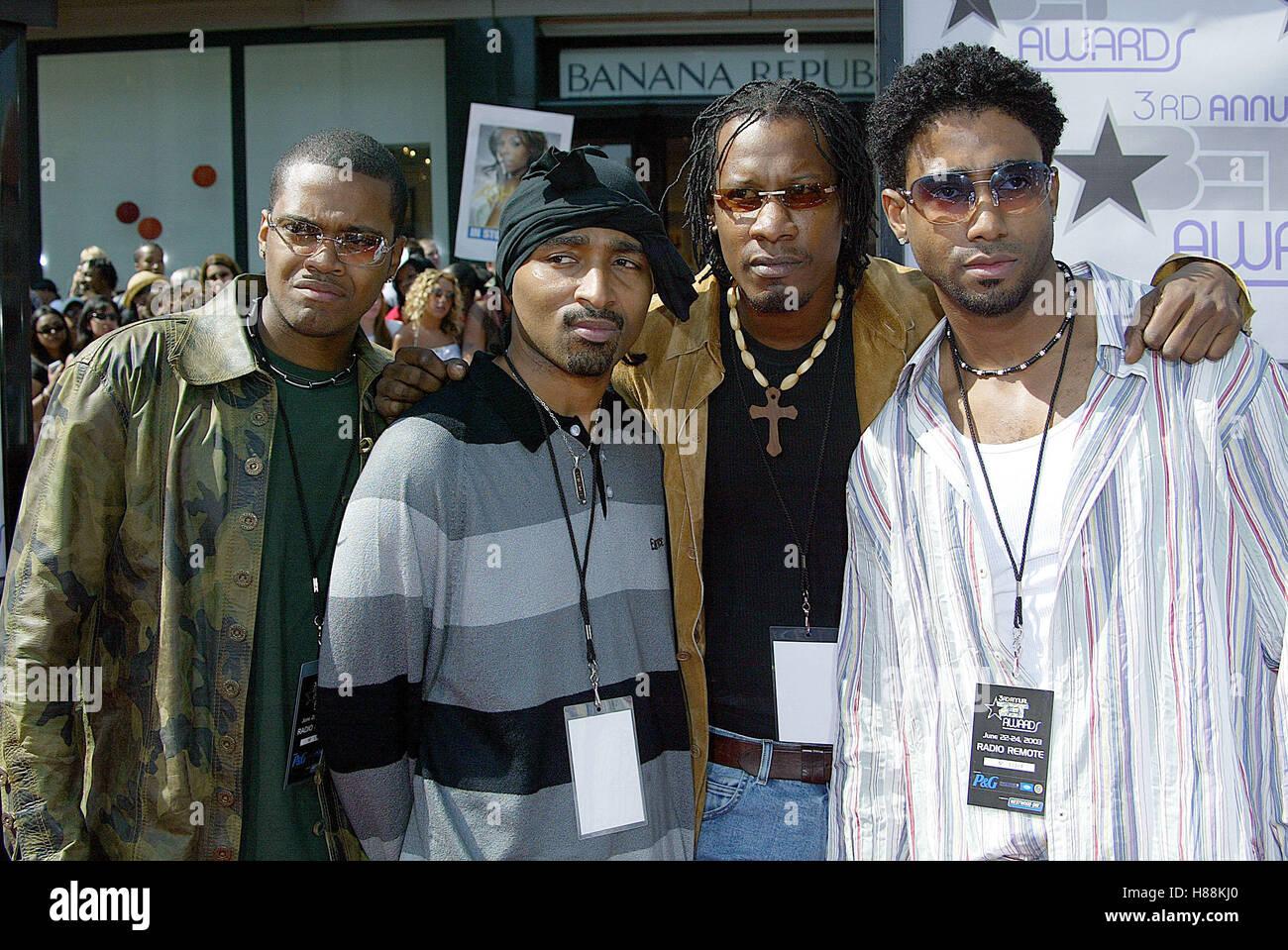 AZ eppure 3RD ANNUALE PREMI BET Kodak Theatre Hollywood LOS ANGELES STATI UNITI D'AMERICA 24 giugno 2003 Immagini Stock