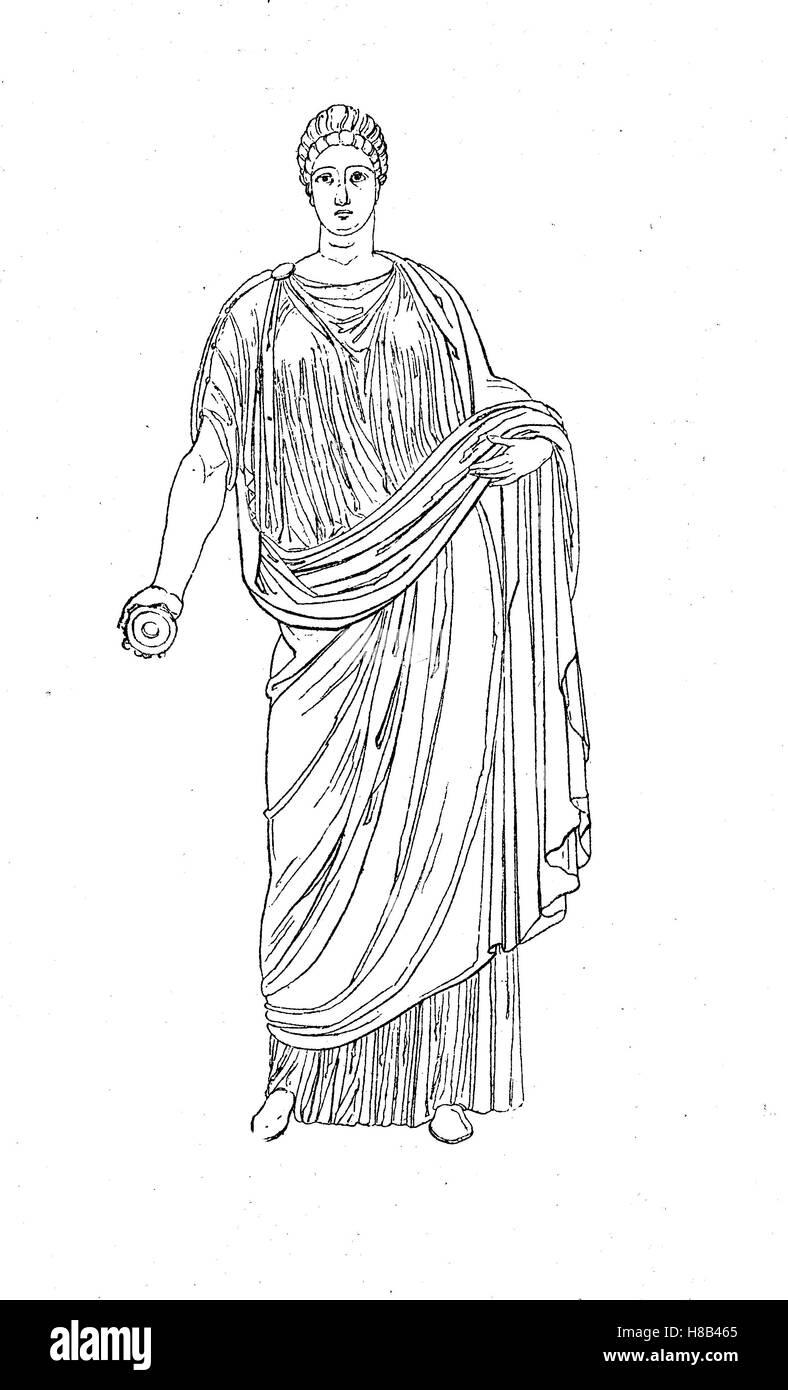 competitive price 9c263 6bff2 Faustina il giovane, vestito di tunica e stola, antica Roma ...