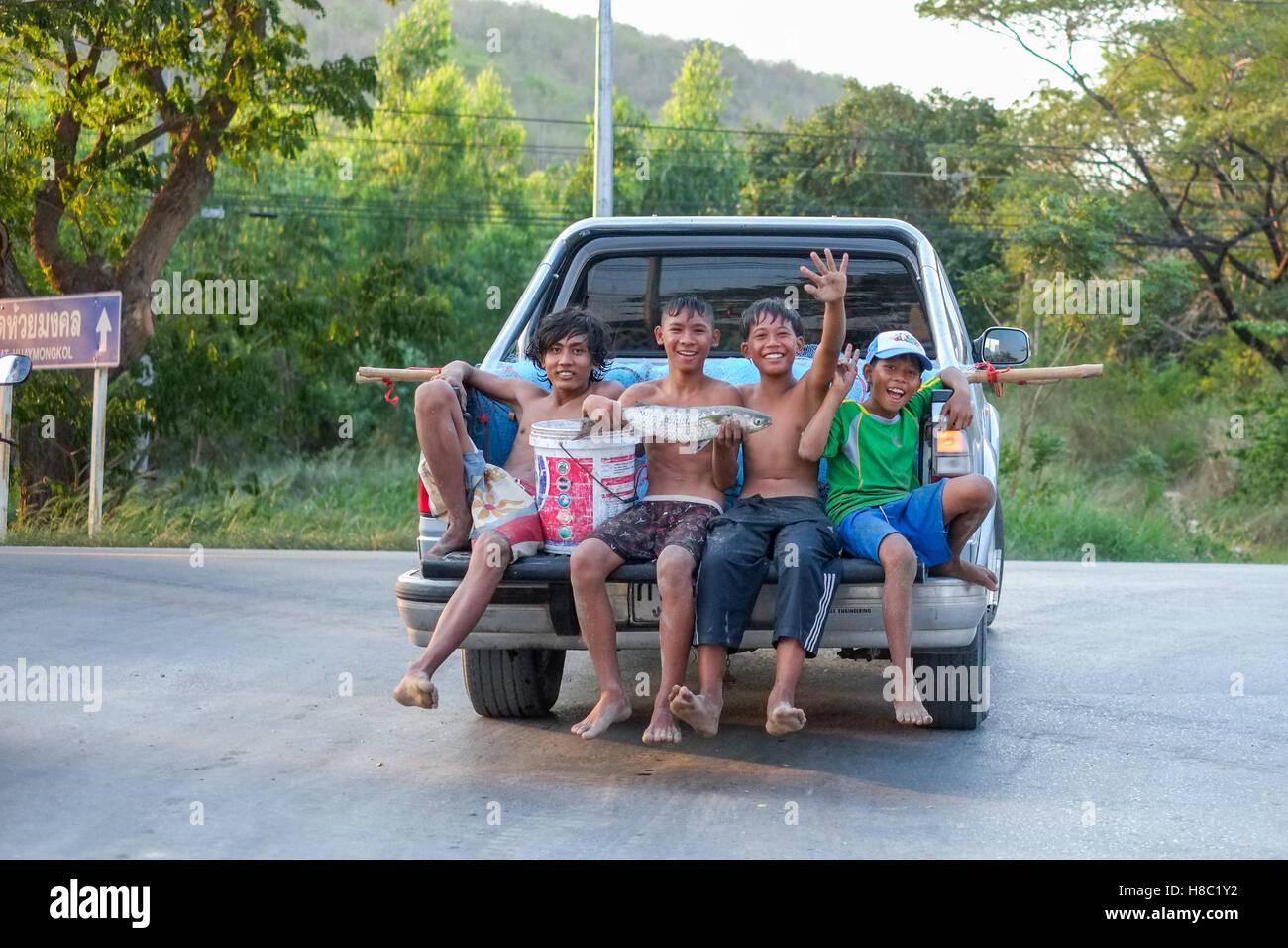 La vita quotidiana del popolo Thai in Hua Hin Tailandia Immagini Stock