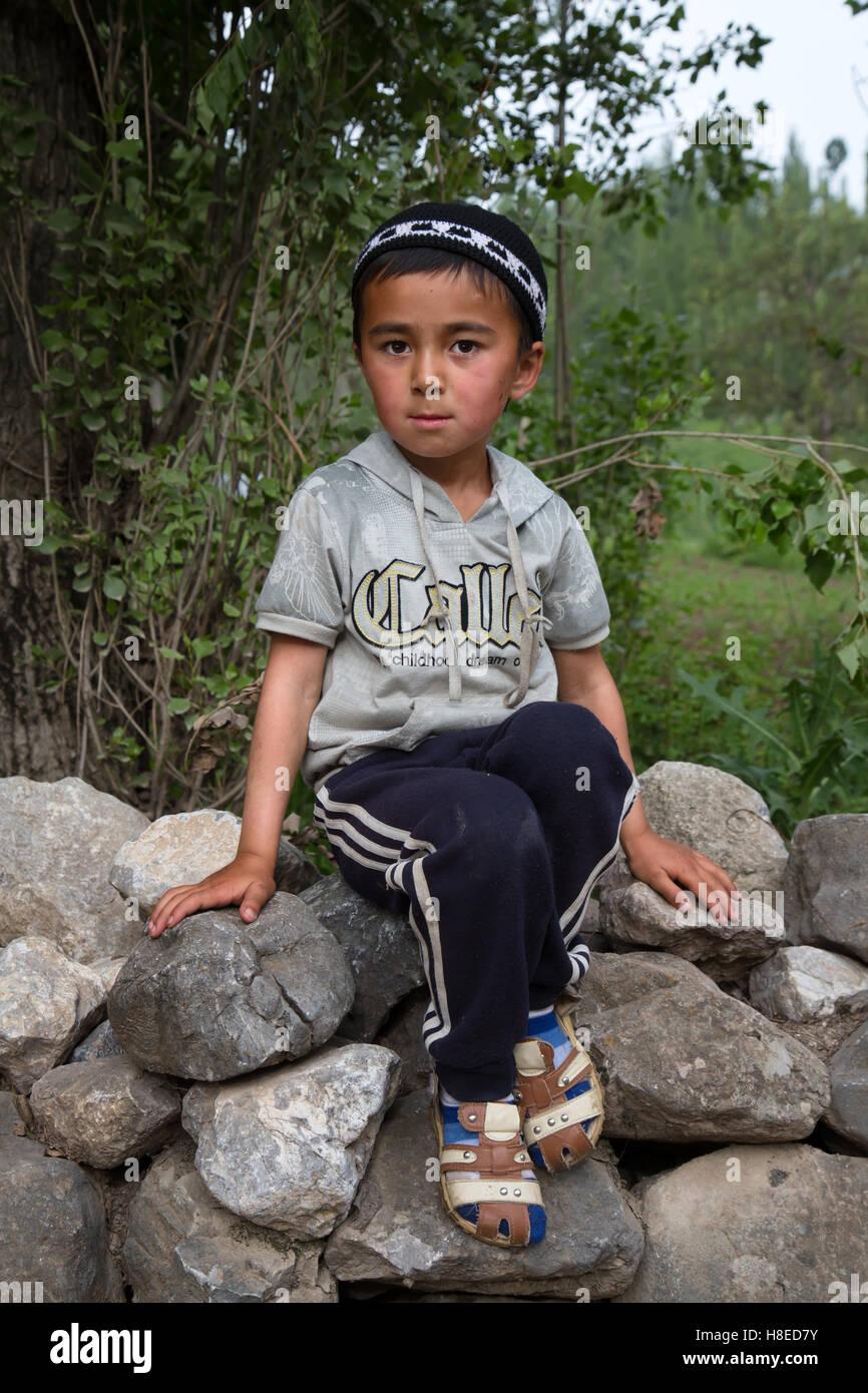 Kyrgyzstan - Ritratto di persone - Gente Viaggi in Asia centrale - La Via della Seta Immagini Stock
