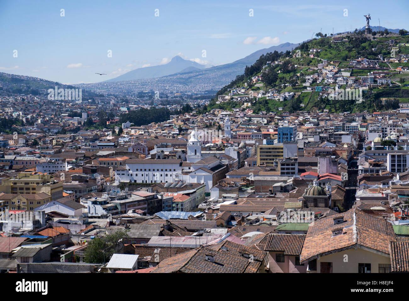 Vista sulla città, Quito, Ecuador, Sud America Immagini Stock
