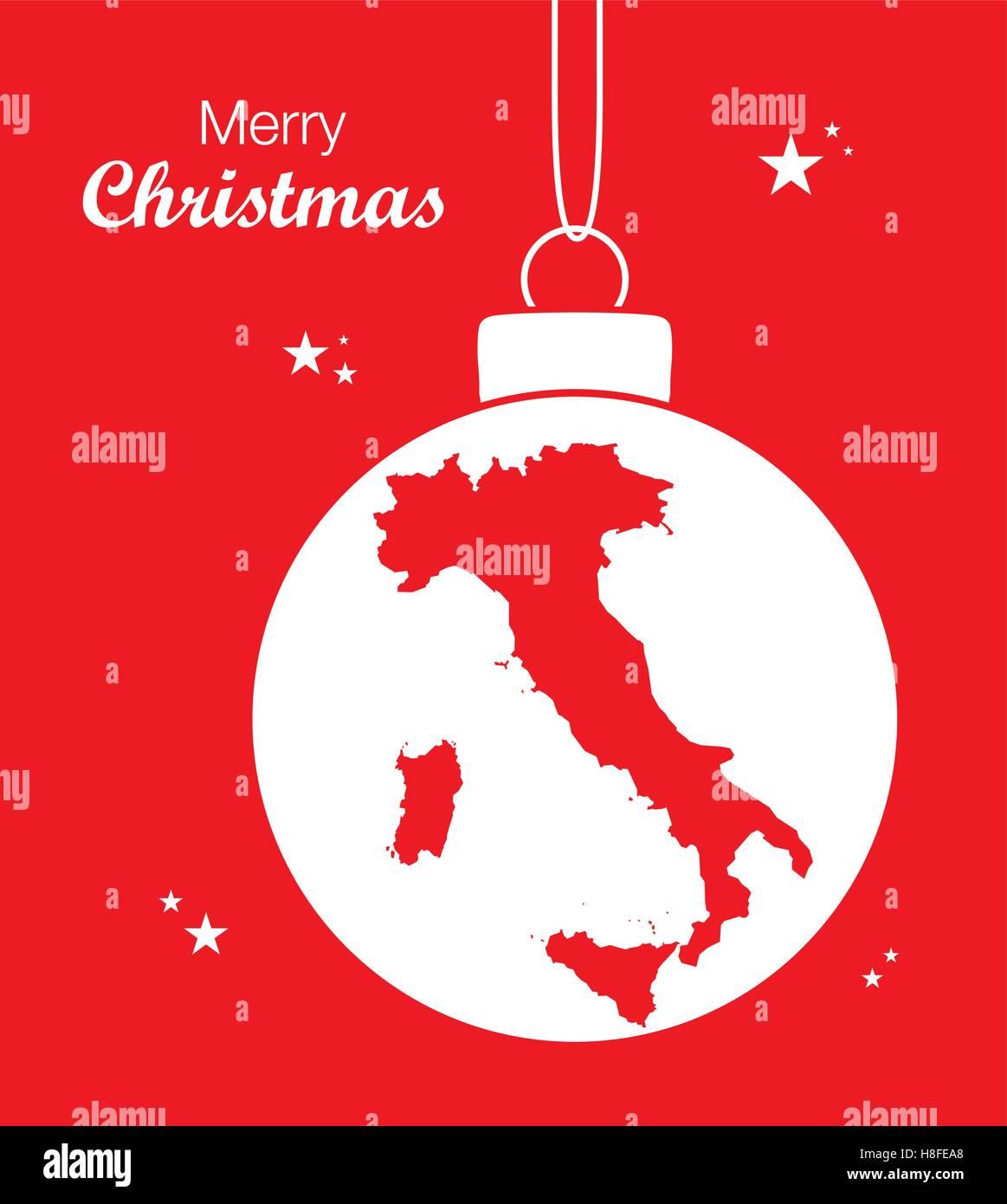 Buon Natale Italia.Buon Natale Mappa Italia Immagine E Vettoriale Alamy