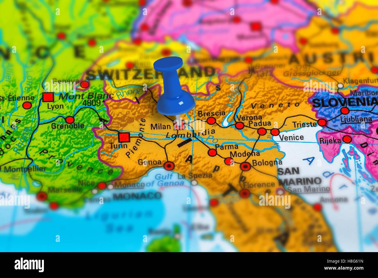 Cartina Dellitalia Milano.Mappa Di Milano Immagini E Fotos Stock Alamy