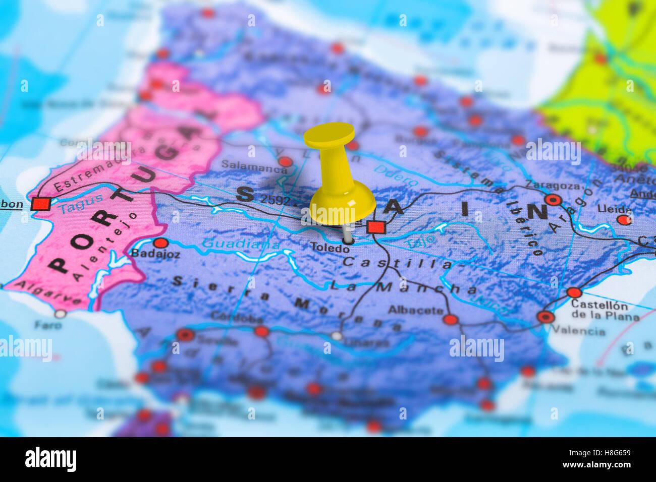 Cartina Spagna Toledo.Toledo Spagna Mappa Foto Stock Alamy