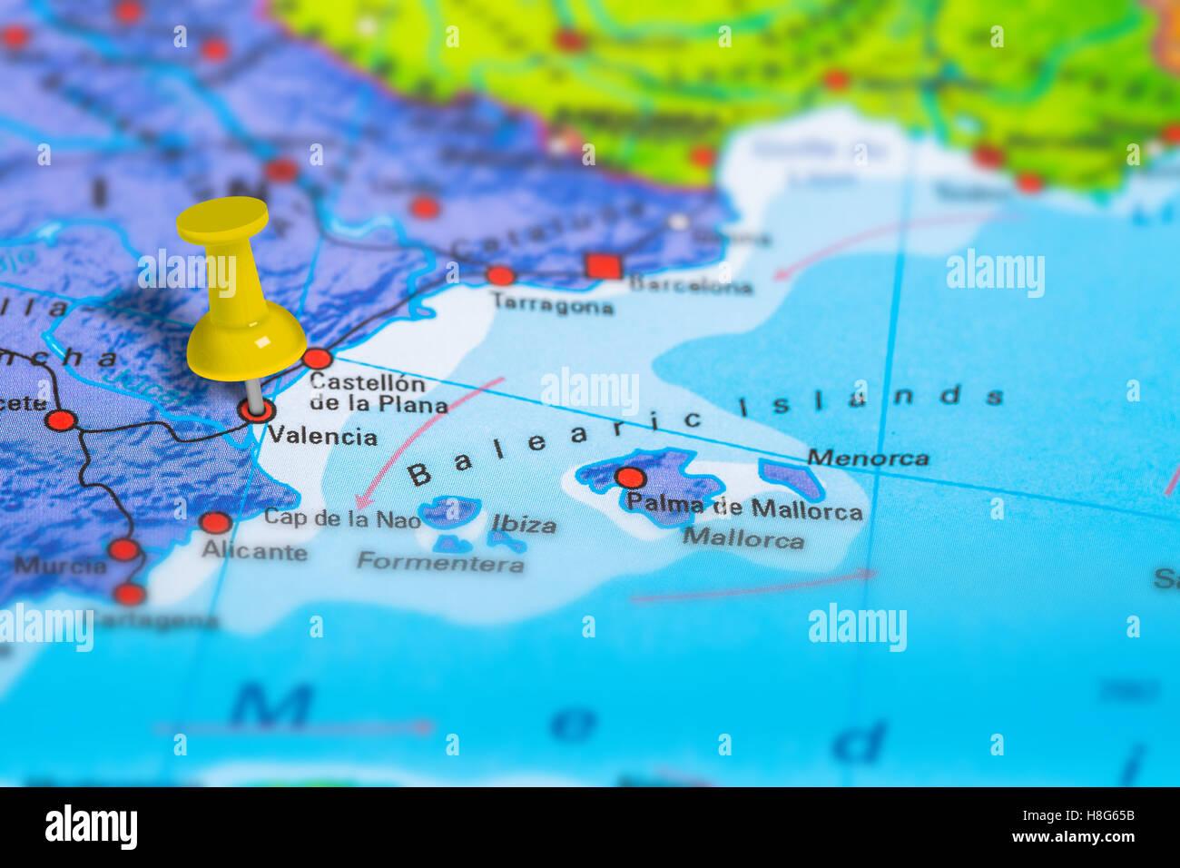 Spagna Valencia Cartina.Valencia Map Immagini E Fotos Stock Alamy