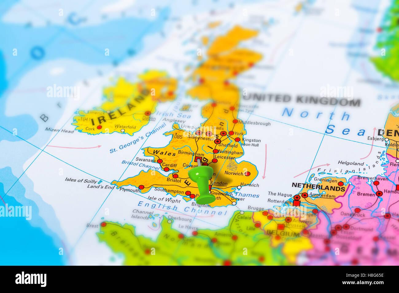 Regno Unito Cartina Geografica