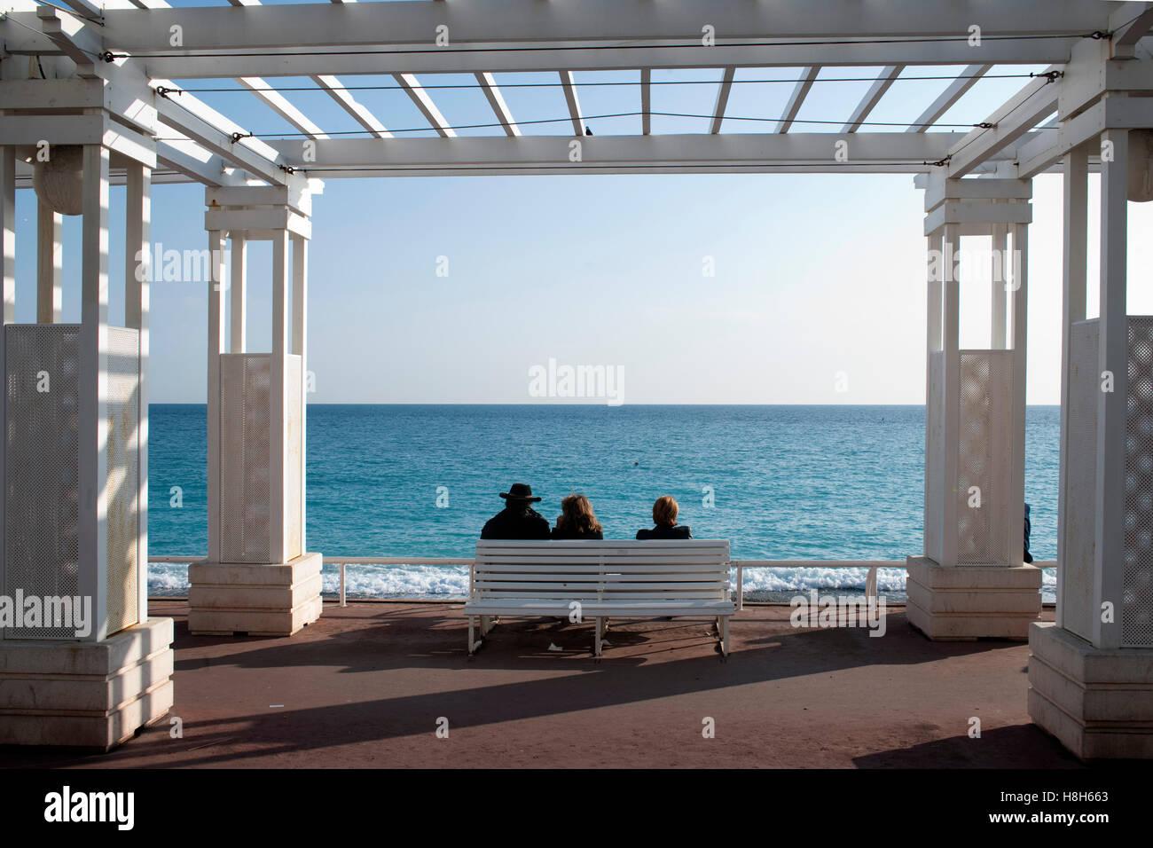 Frankreich, Cote d Azur, Nizza Promenade des Anglais Immagini Stock