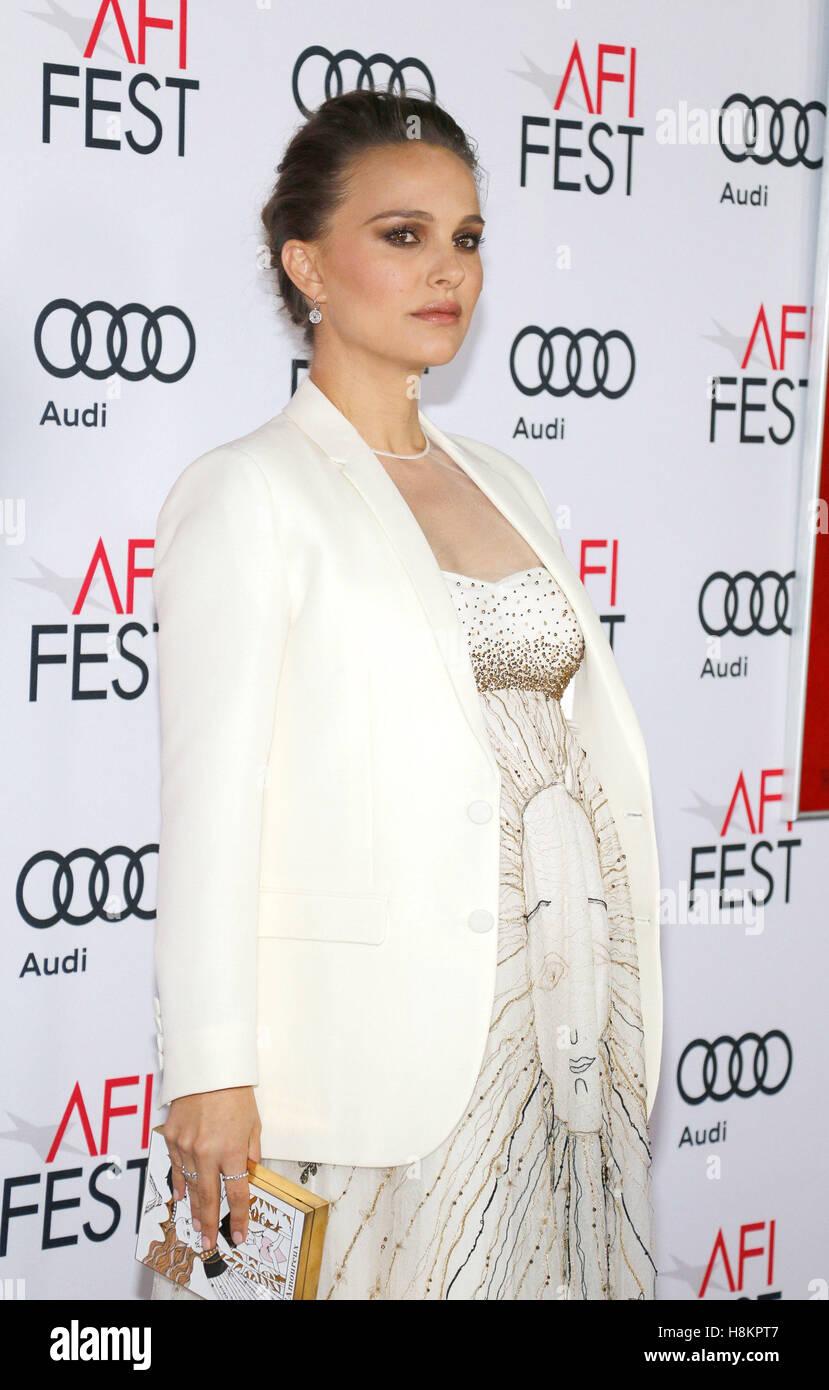 """Natalie Portman all'AFI FEST 2016 Centrotavola Screening di Gala di """"Jackie"""" tenutasi presso la leva Immagini Stock"""