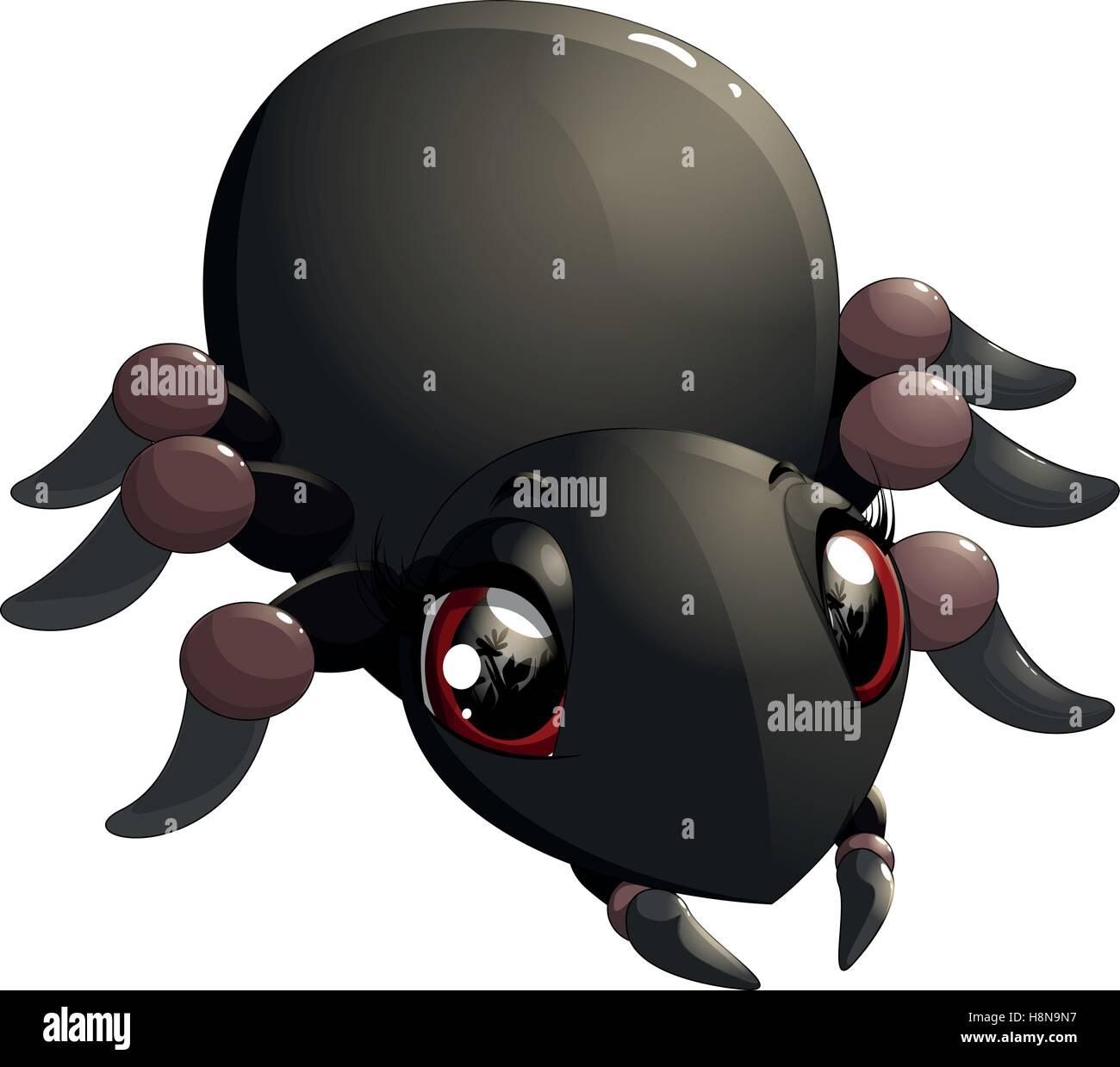 Il Ragno Divertente Cartone Animato Per La Progettazione