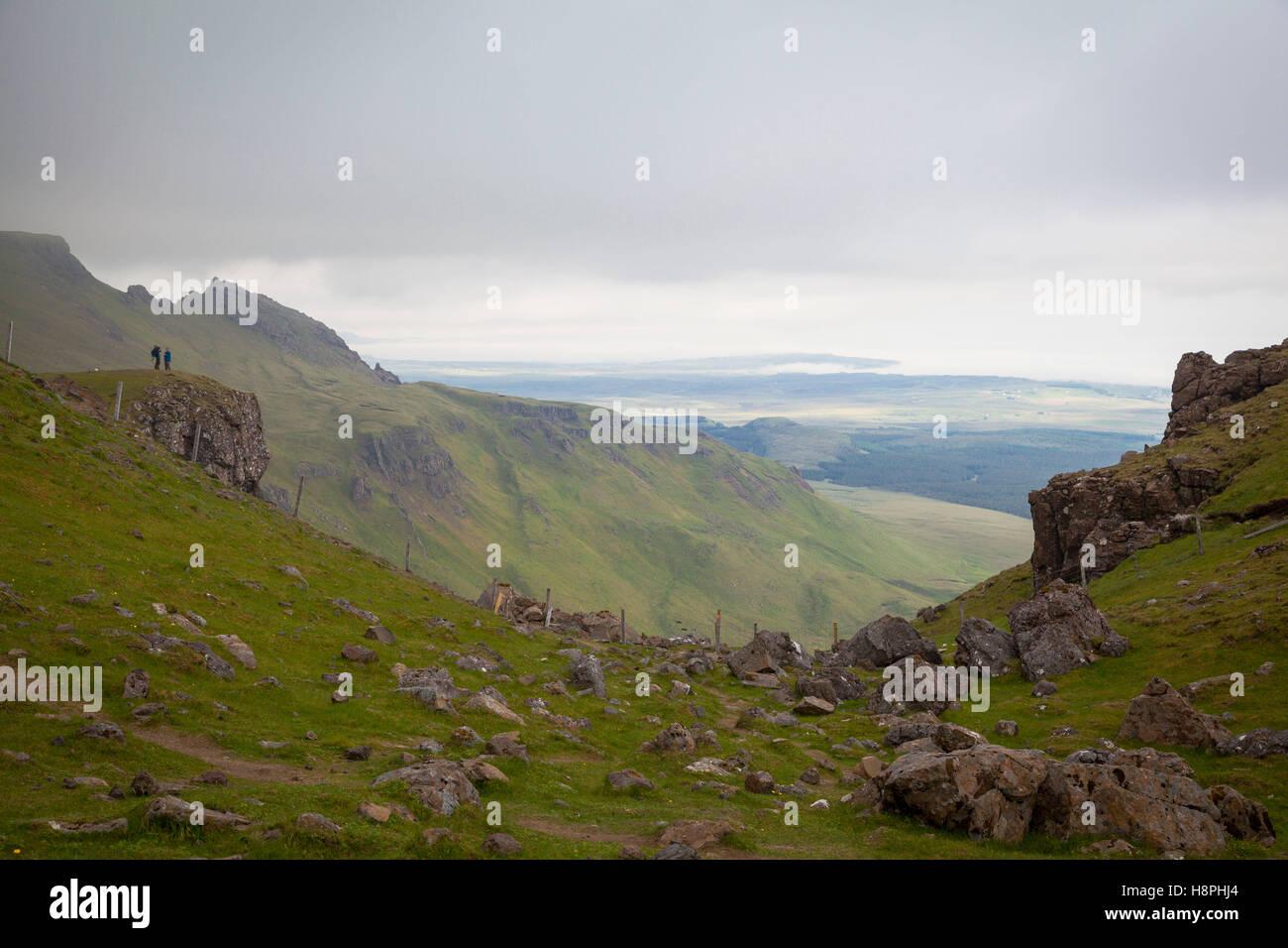 Paesaggio Trotternish, Isola di Skye in Scozia Foto Stock