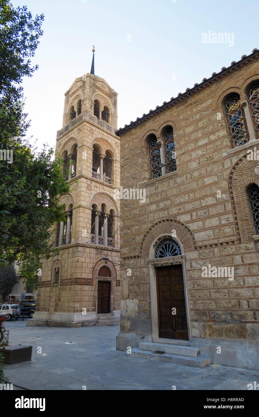 Chiesa del Salvatore di Lykodemos ad Atene, Grecia, Europa Immagini Stock