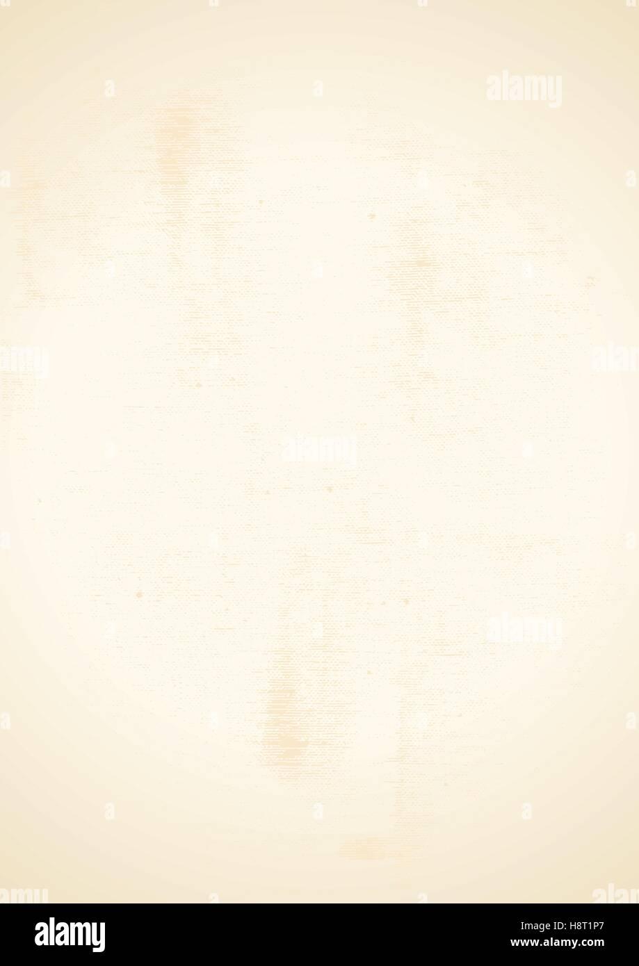 Vettore, illustrazione di A4 foglio del foglio di carta. E Grunge stile usurato. Immagini Stock