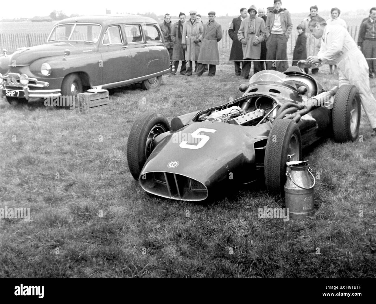 1956 GOODWOOD BRM TIPO 25 WILLIE SOUTHCOTT Immagini Stock