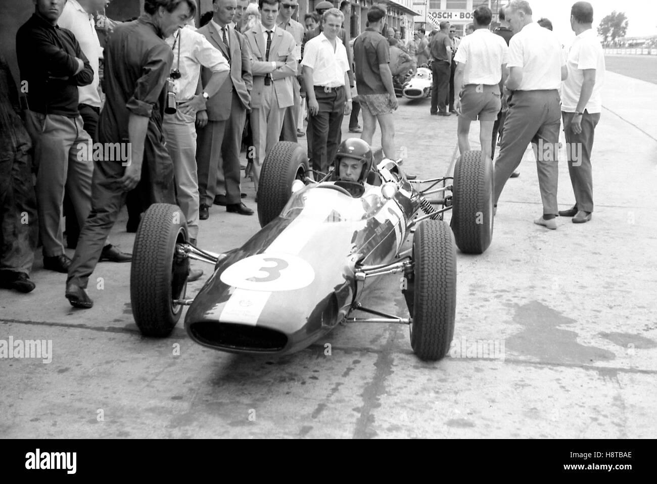 1963 GP DI GERMANIA Jim Clark Lotus 25 Immagini Stock