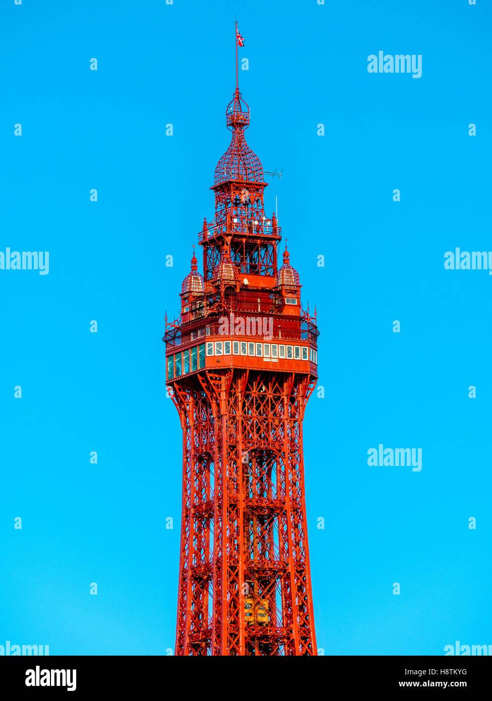 Dalla torre di Blackpool, Lancashire, Regno Unito. Immagini Stock
