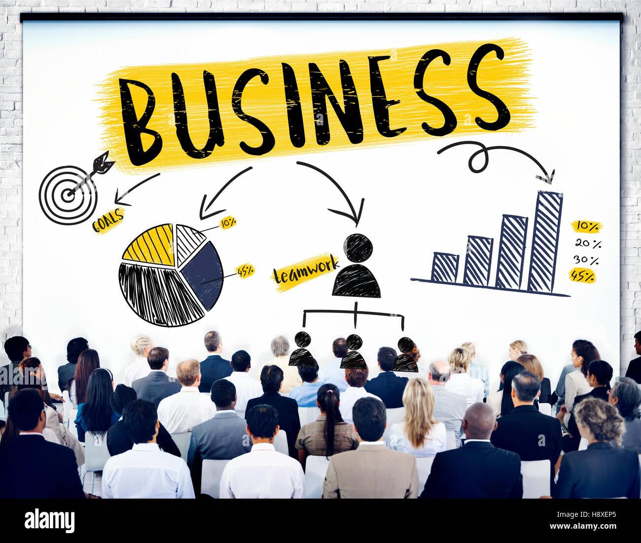 La crescita del business aziendale di successo del lavoro di squadra concetto Immagini Stock