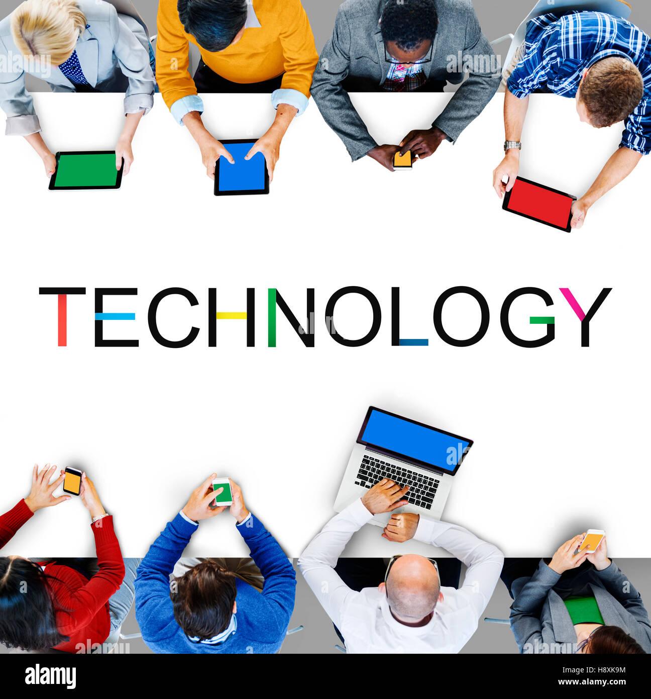 Innovazione Tecnologica Evolution Tech concetto innovativo Immagini Stock