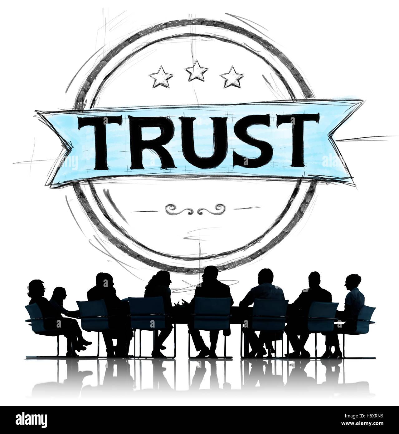 Credenza fiducia fedeltà onesto onorevole concetto Immagini Stock