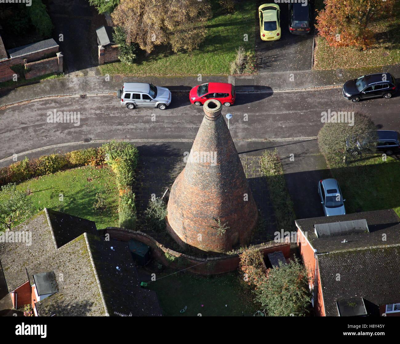 Vista aerea del Nettlebed forno di mattoni in Oxfordshire, Regno Unito Immagini Stock