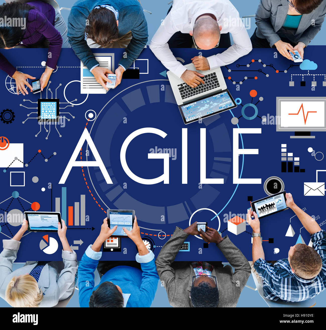 Agilità Agile agile veloci Volant Concept Immagini Stock