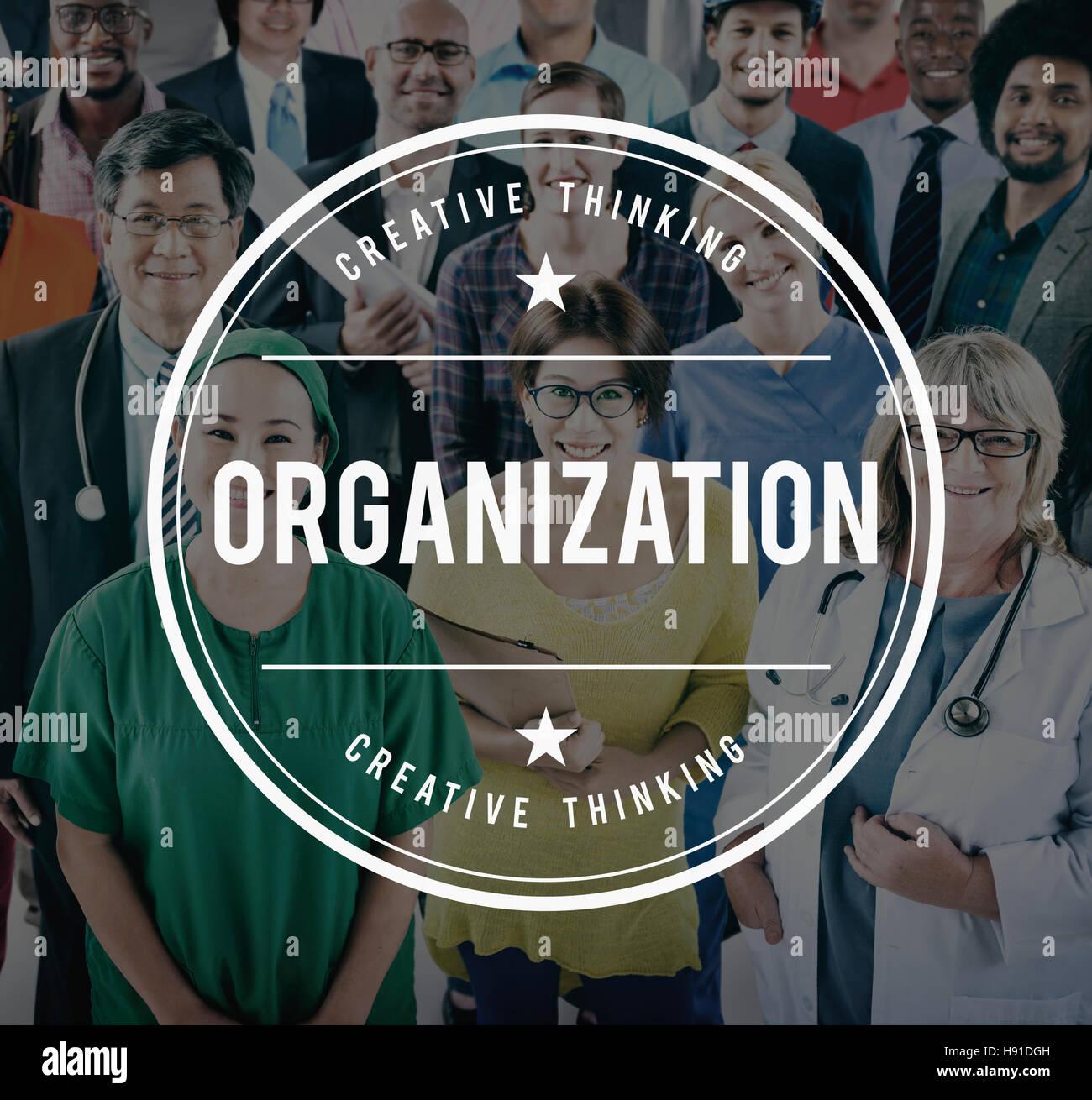 Organizzazione Struttura sorgente concetto di produttività Immagini Stock