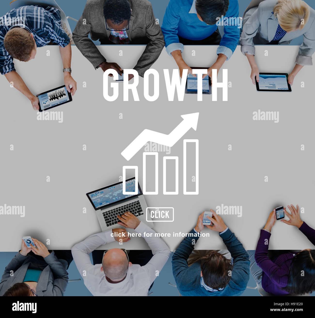 La crescita aziendale Economia concetto grafico Immagini Stock