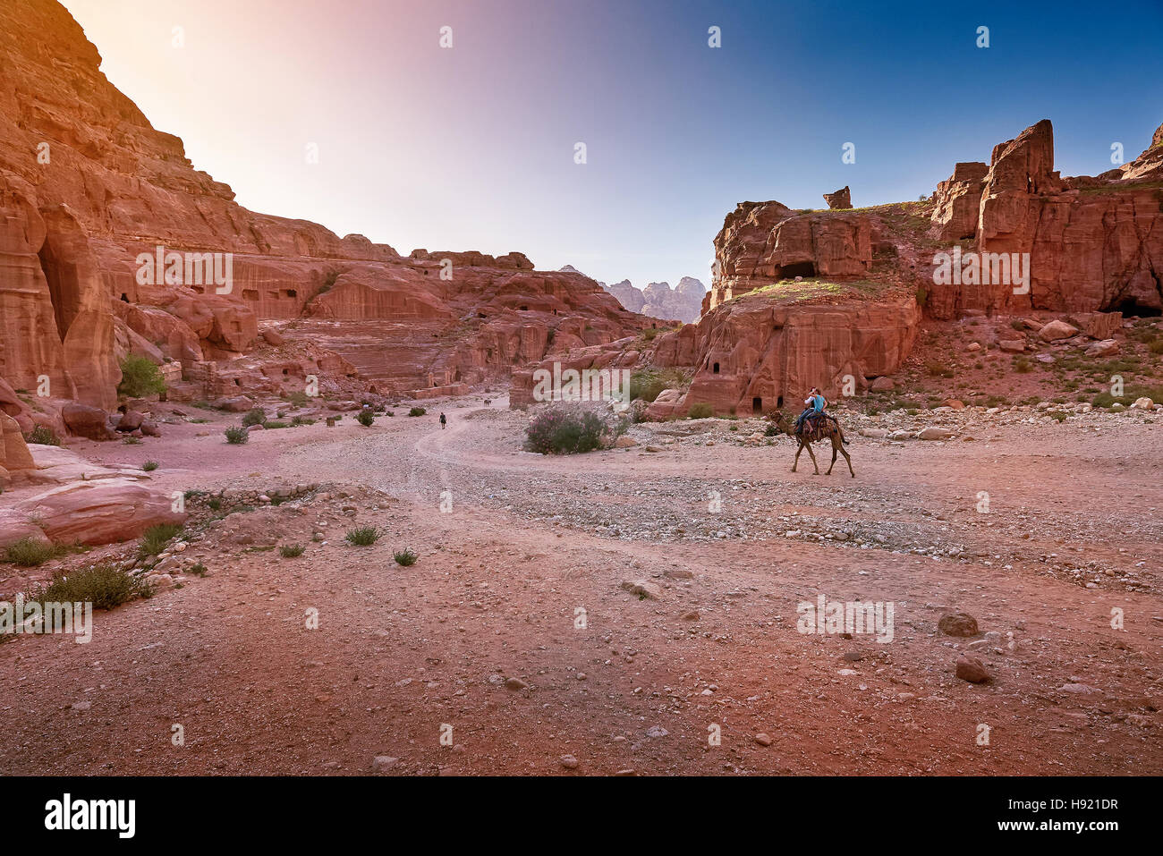 Antica città di Petra, Giordania Immagini Stock