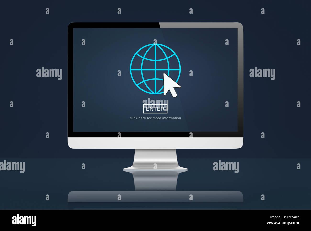 Comunicazione globale di collegamento il concetto di globalizzazione Immagini Stock