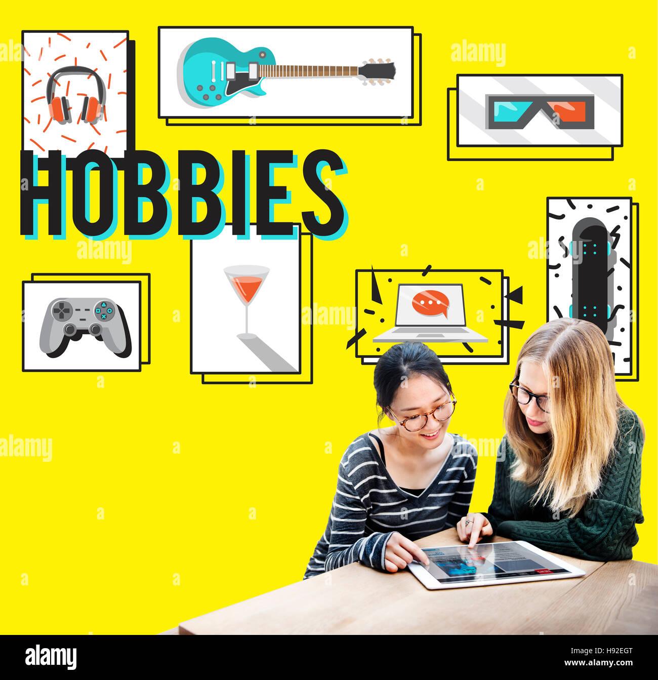 Hobby Tempo libero Tempo libero il concetto di media Immagini Stock