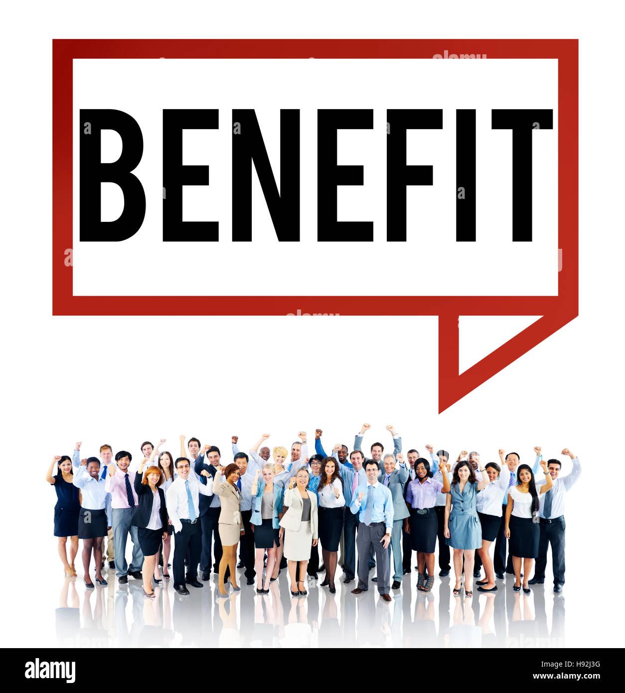 Beneficio di carità reddito utile valore salari il concetto di benessere Immagini Stock