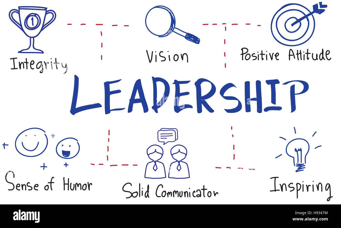 Il successo di Leadership competenze disegno concetto grafico Immagini Stock