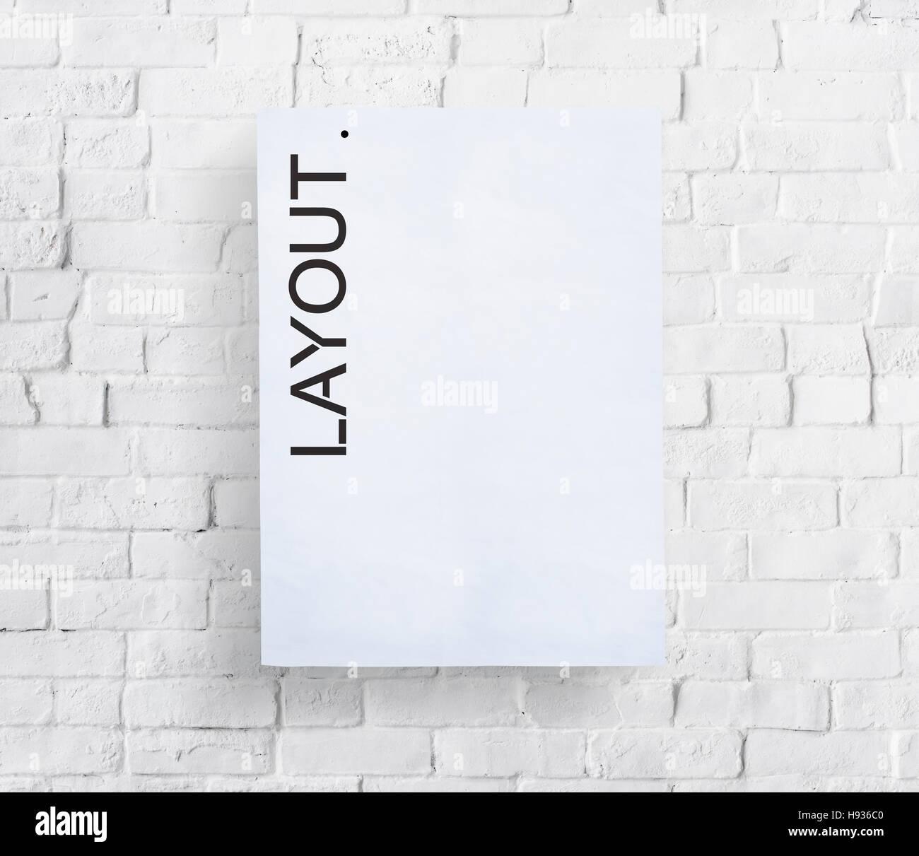 Disposizione del Layout Design creativo il concetto di editing Immagini Stock