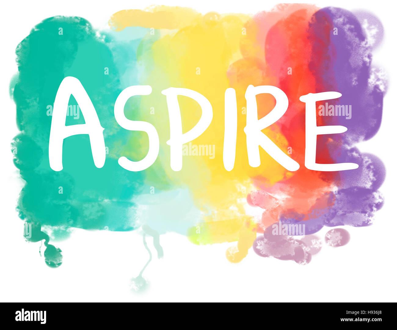 Aspirazioni desiderio sogno ambizione concetto Obiettivi Immagini Stock