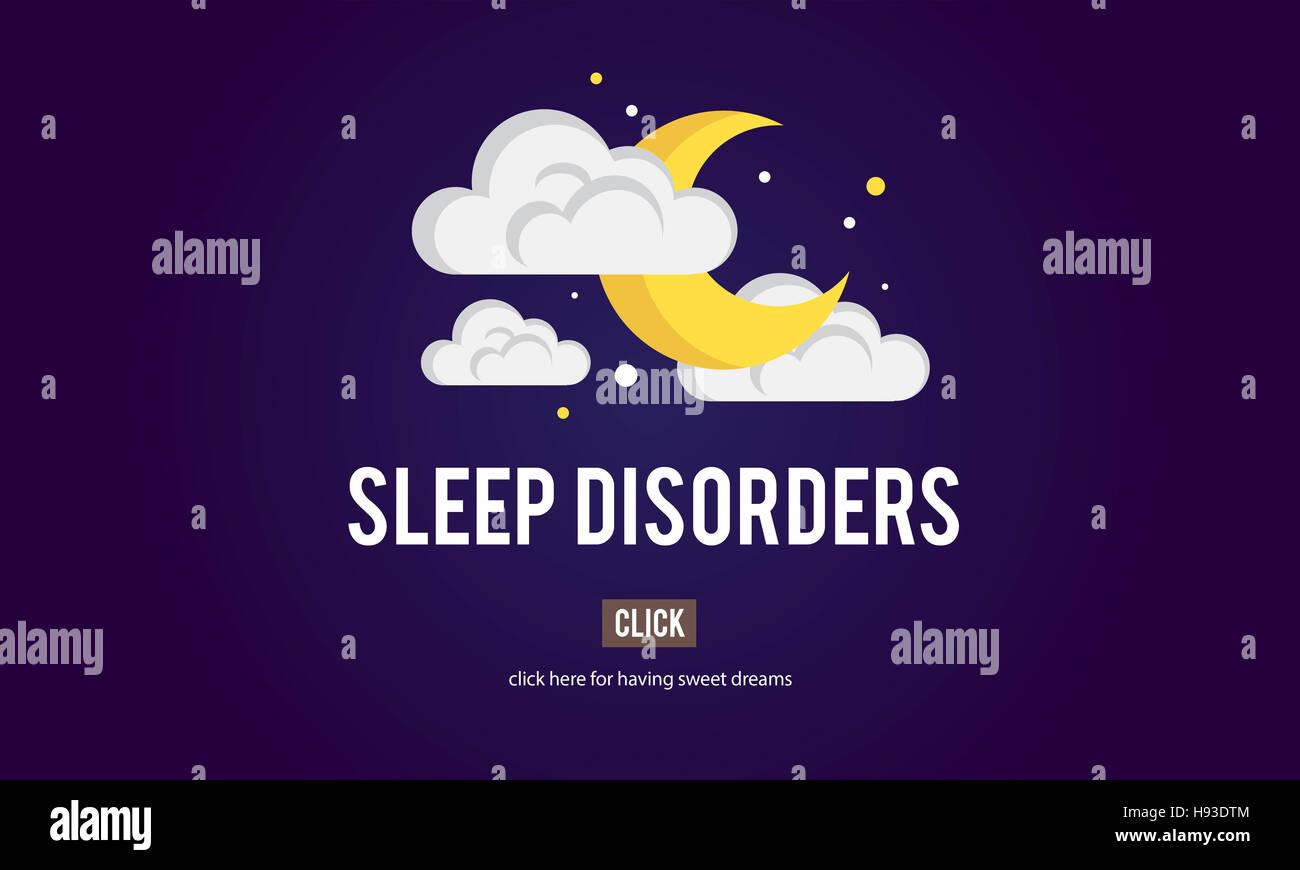 Apnea nel sonno insonnia sonno disturbi privazioni concetto insonni Immagini Stock