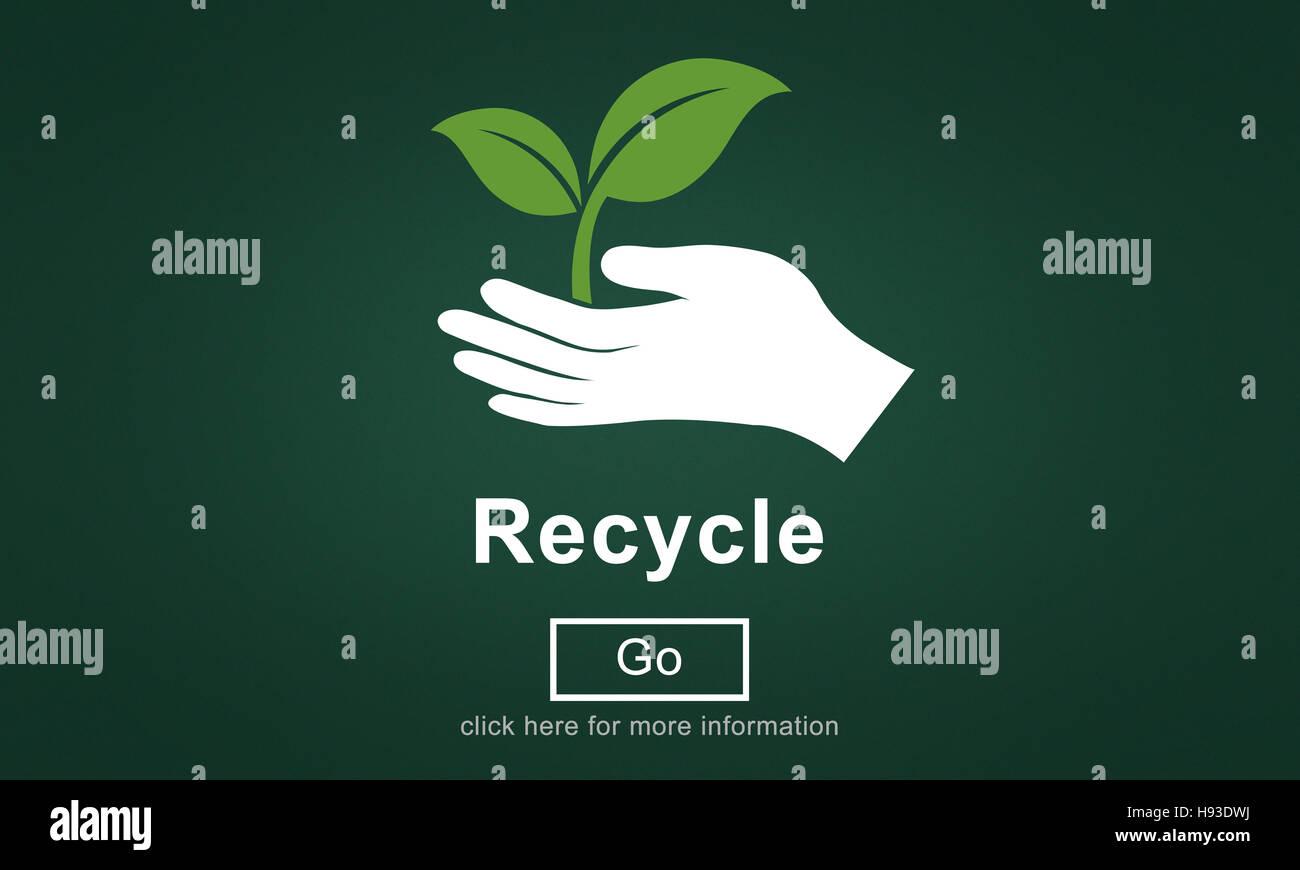 Riciclare il riutilizzo di ridurre ecosistema concetto di ambiente Immagini Stock