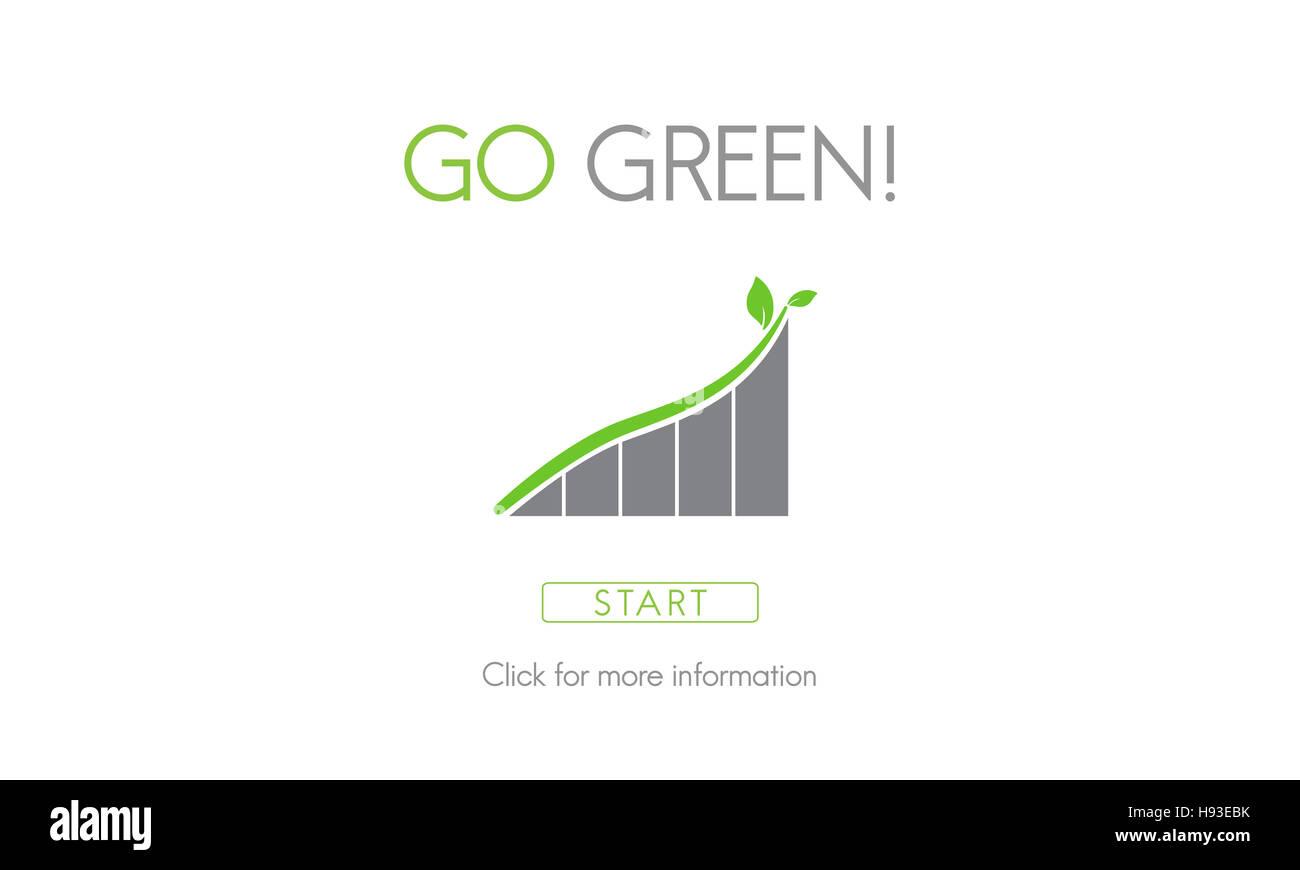 Go Green di conservazione delle risorse naturali concetto di eco Immagini Stock