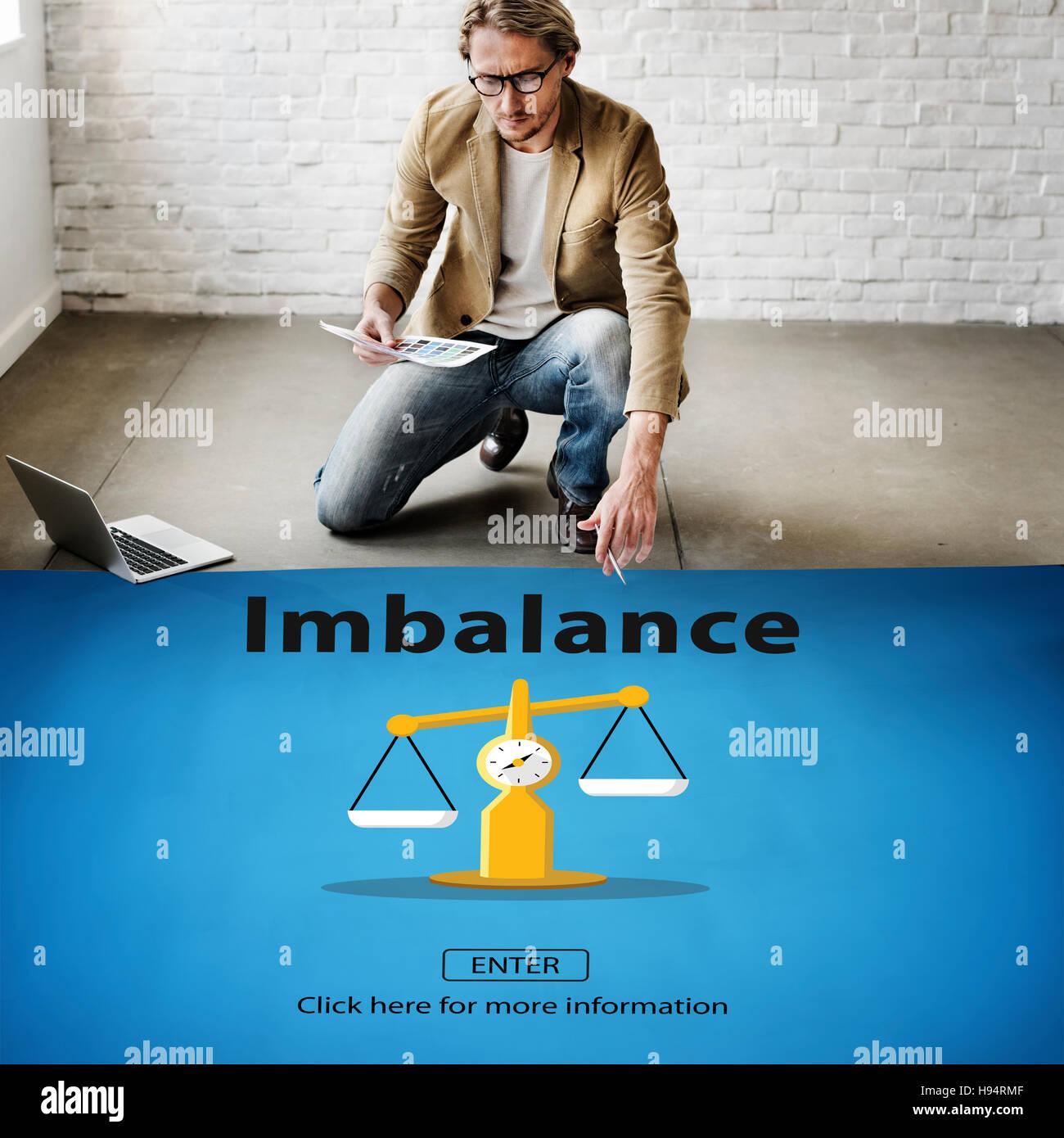 Scelta dello squilibrio confronto complessità il concetto di rischio Immagini Stock