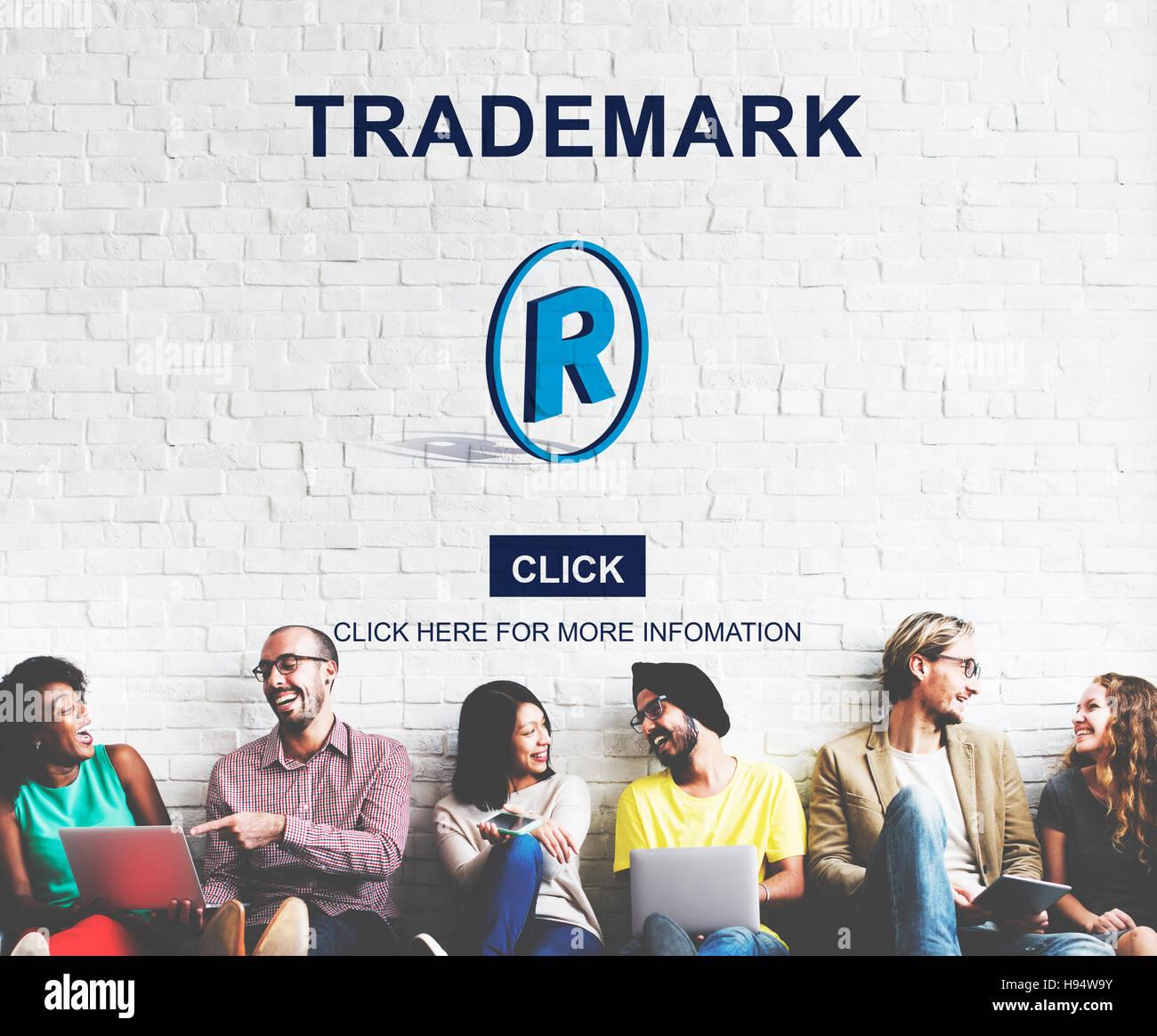 Logo del marchio di Marca il concetto di Copyright Foto Stock