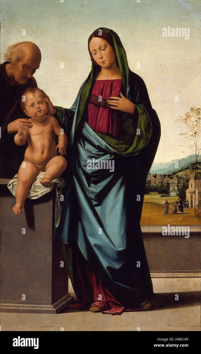 Fra Bartolommeo - Sacra Famiglia Immagini Stock