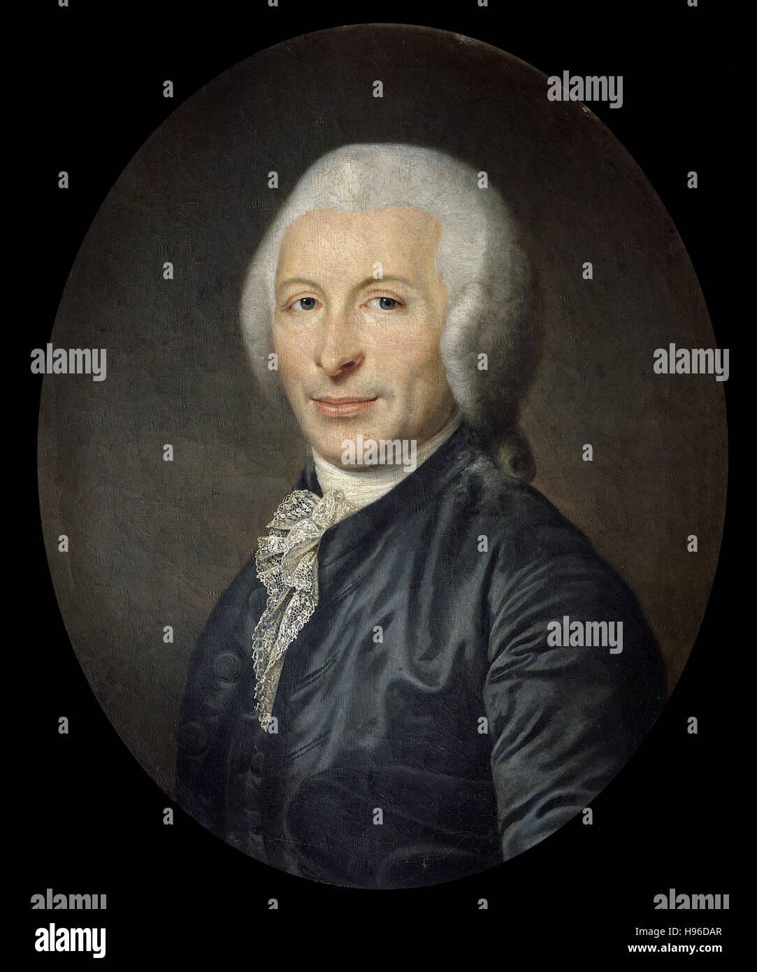 Anonimo, Ritratto del xviii secolo del medico ed uomo politico Joseph Ignace Guillotin - Immagini Stock