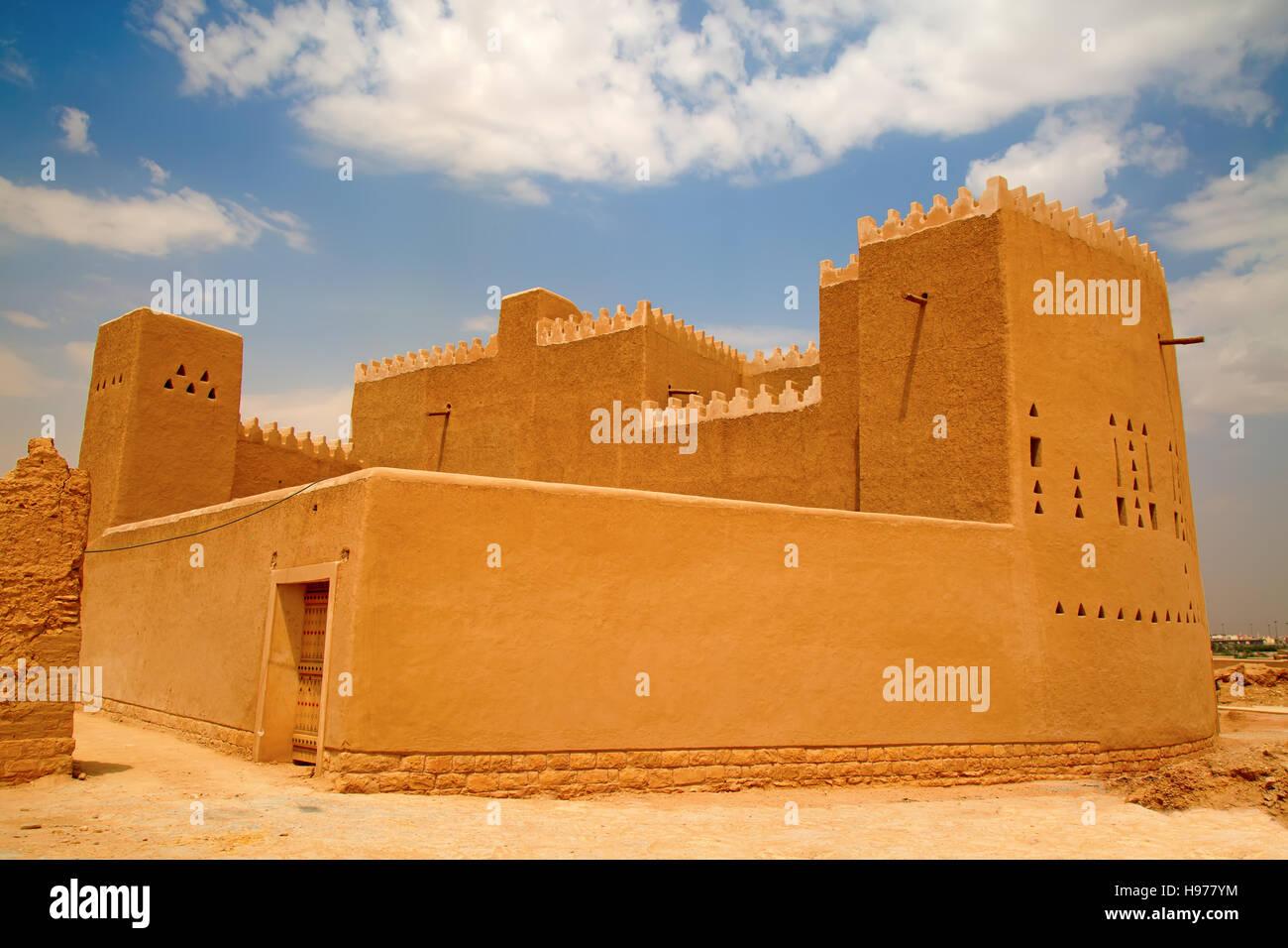 Le strade della città vecchia Diriyah vicino Ar Riyadh, Regno di Arabia Saudita Immagini Stock