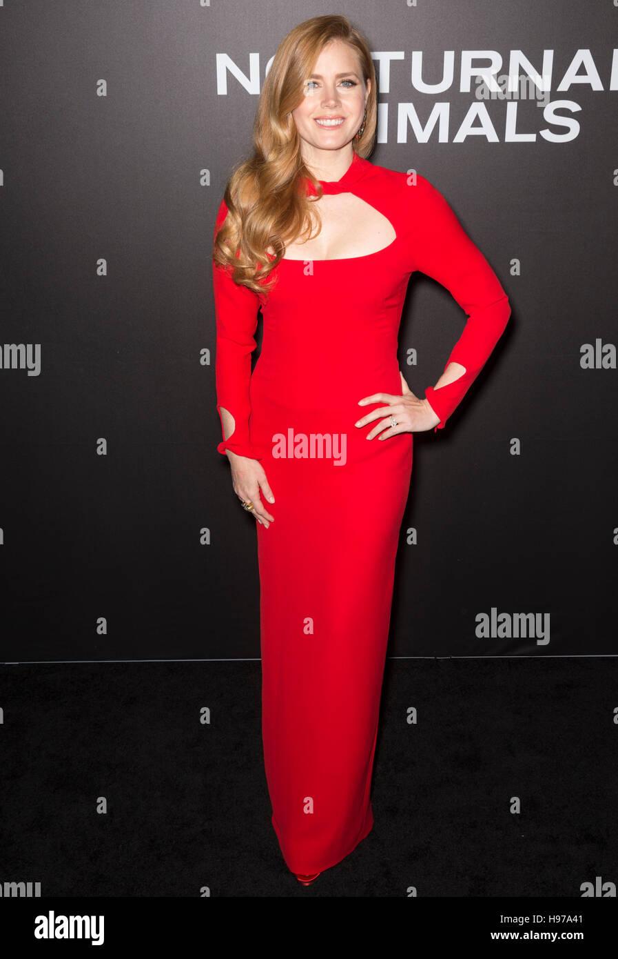 """La città di New York, Stati Uniti d'America - 17 Novembre 2016: attrice Amy Adams assiste il """"animali Immagini Stock"""