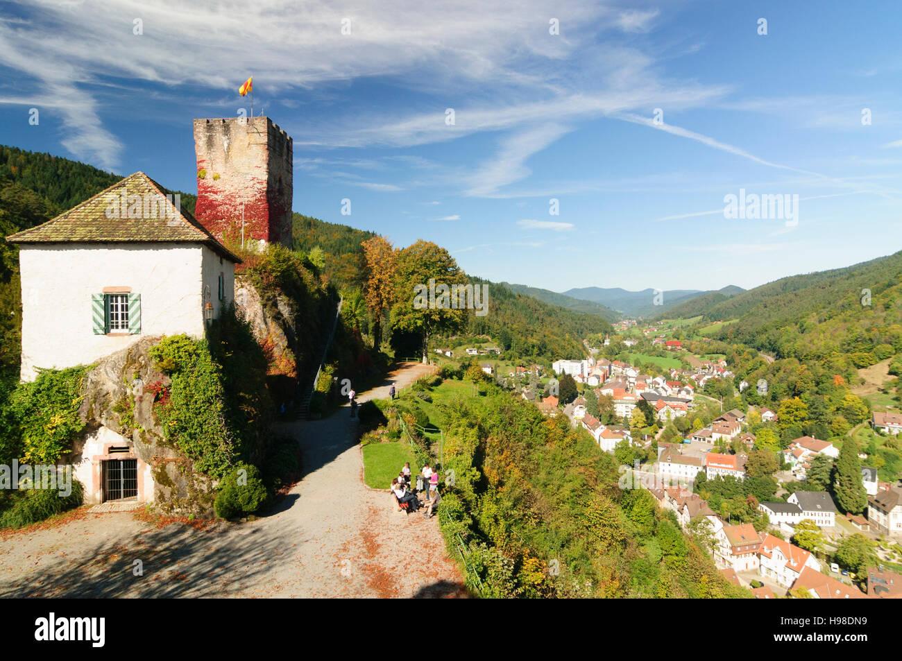 Hornberg Schwarzwald Vista Dal Schlossberg E Castello Di Hornberg