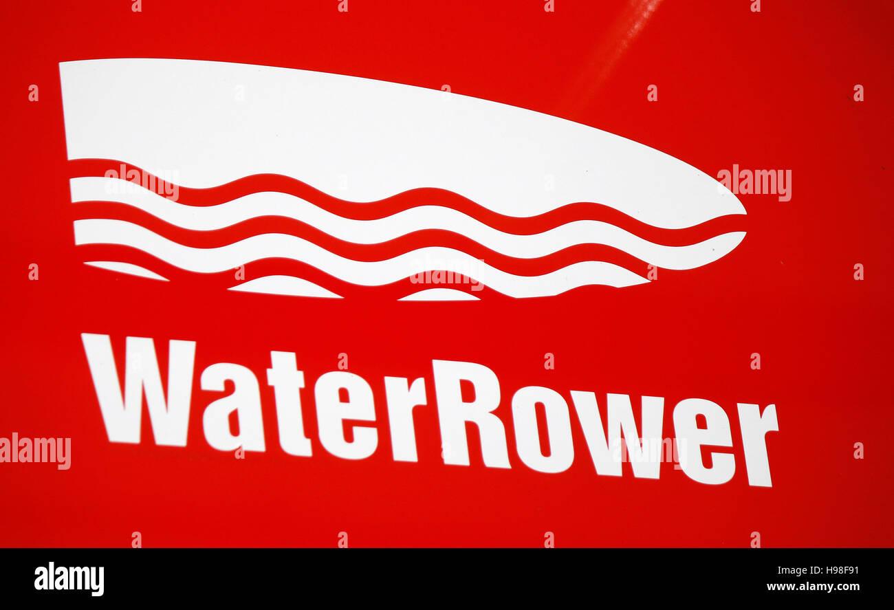 Das Logo der Marke 'Acqua Rower', Berlino. Immagini Stock