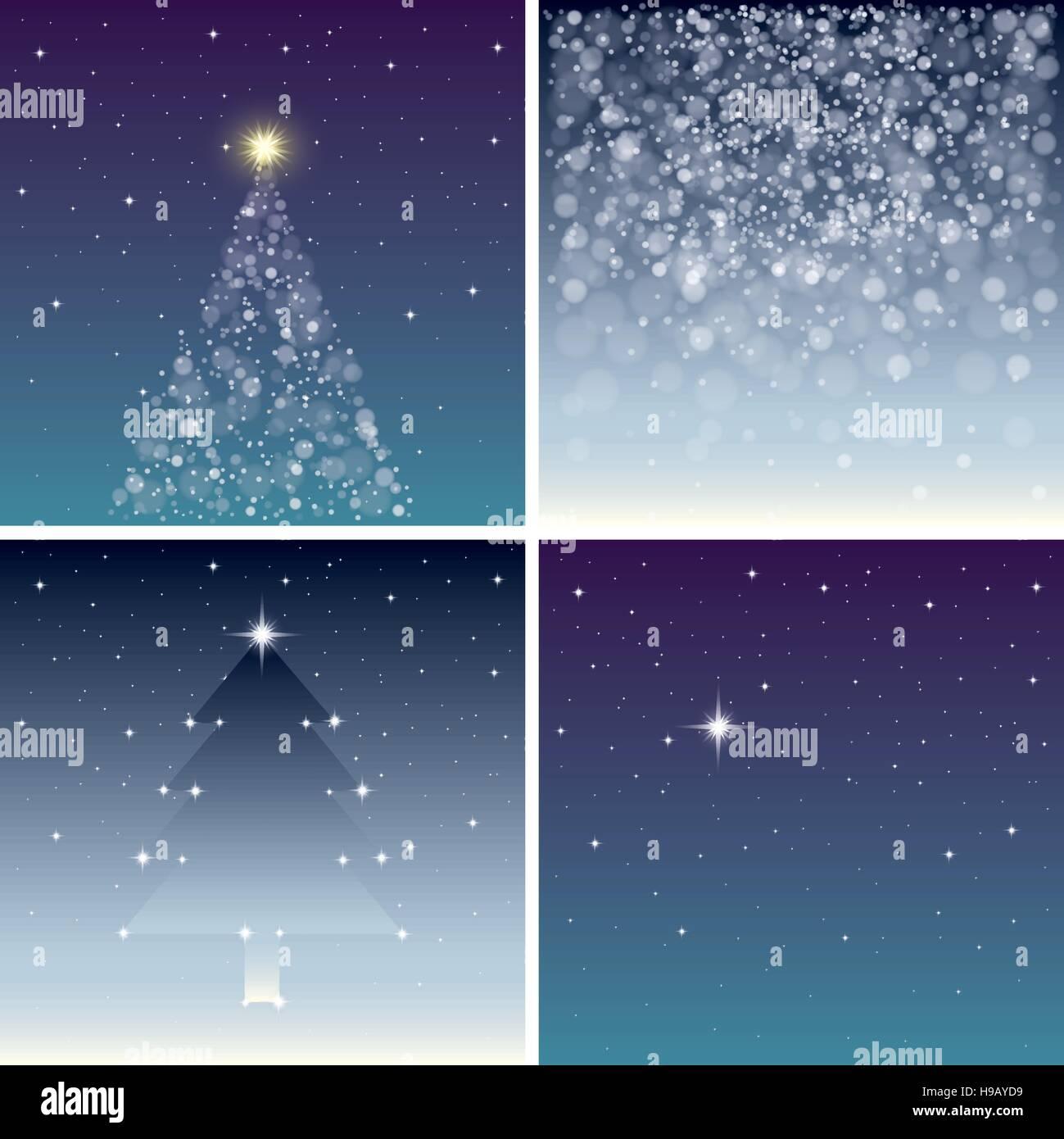 Fairy sfondi natalizi impostato Immagini Stock