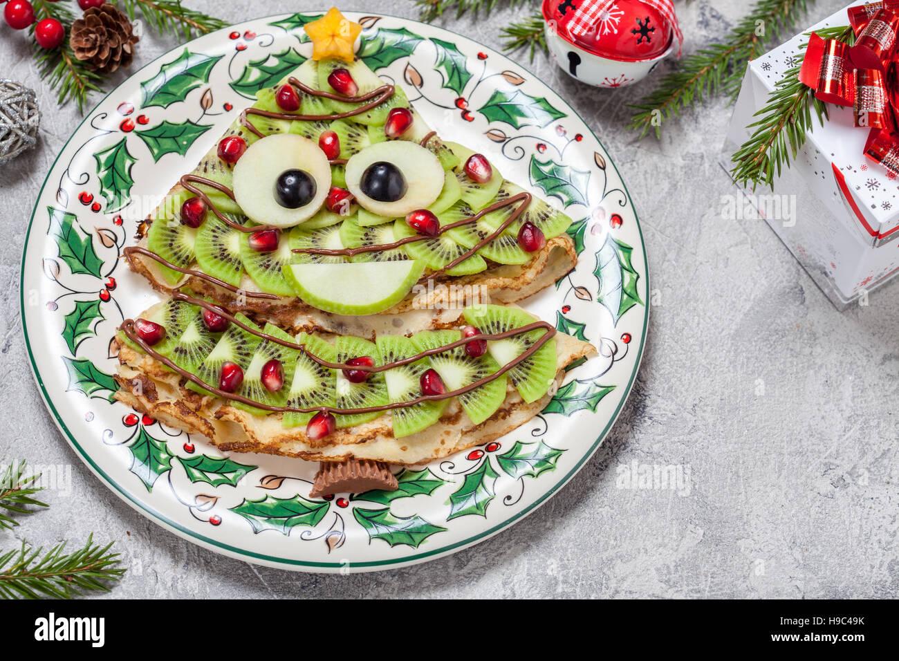 Frittelle Dolci Di Natale.Divertente Albero Di Natale A Forma Di Frittelle Dolci Crepes Per La