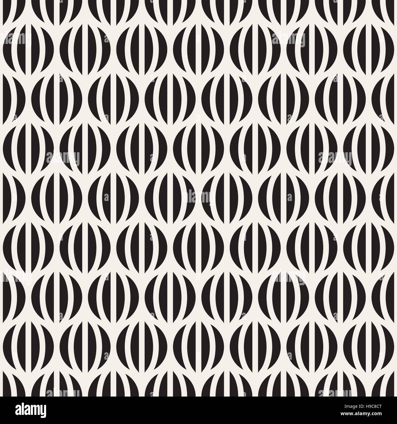 bf7f14d505 Vector Seamless le strisce bianche e nere in cerchi Pattern Immagini Stock