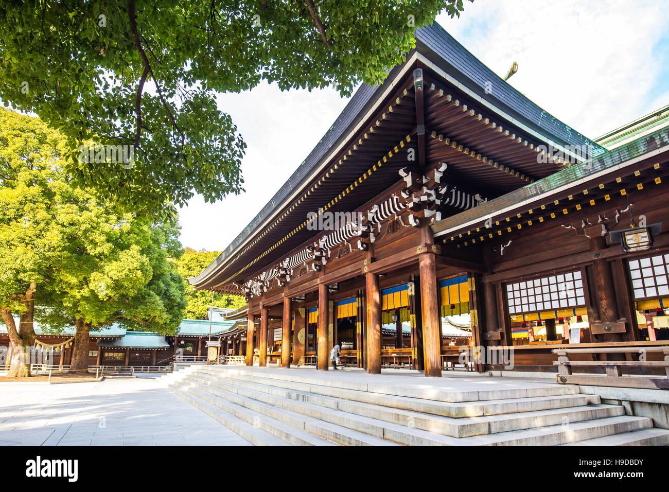 Tokyo, Giappone - 16 Febbraio 2015: Meiji Jingu brillare in Shibuya, Tokyo - Giappone. Immagini Stock