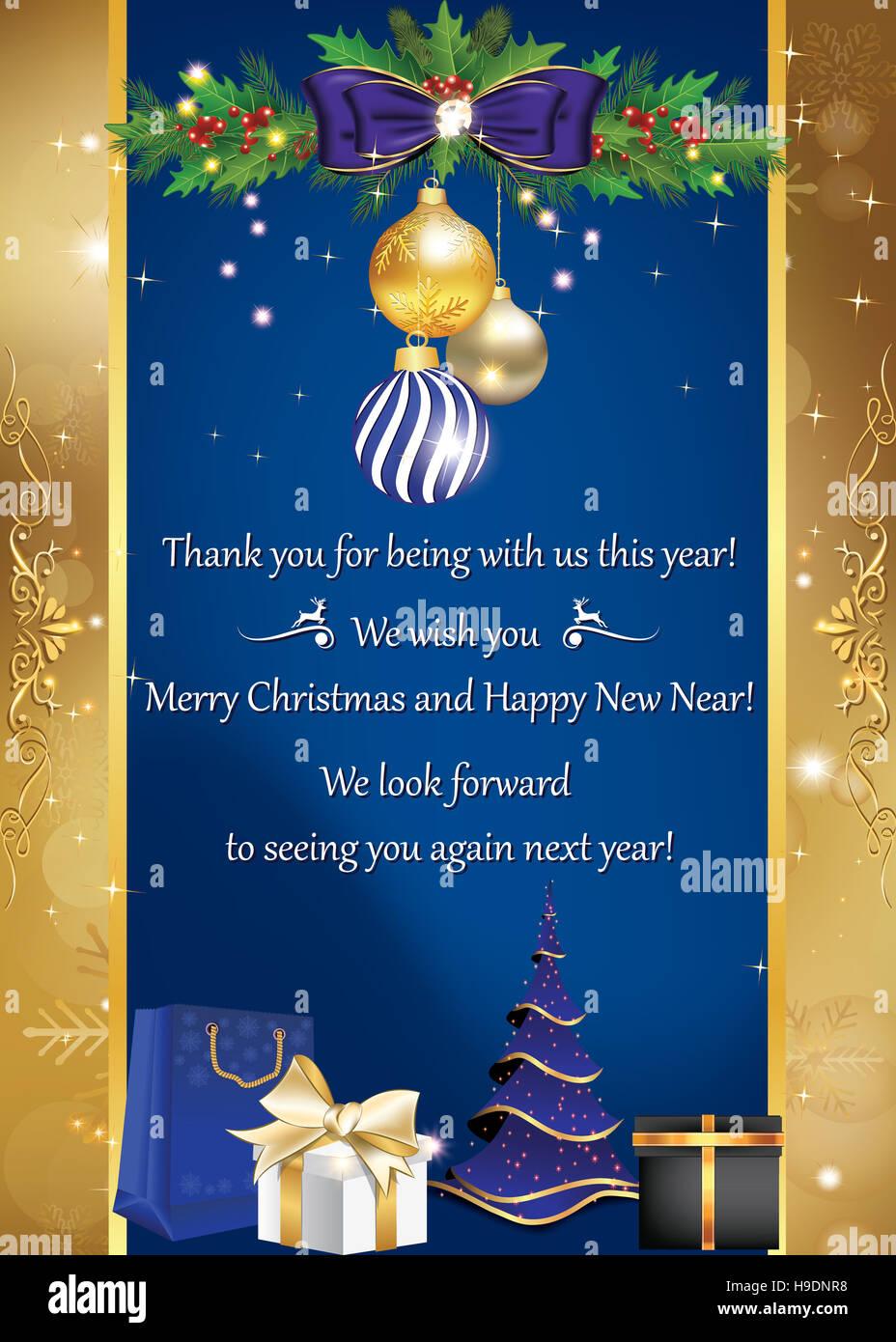 Grazie E Buon Natale.Business Card Per Le Vacanze Invernali Grazie Per Essere